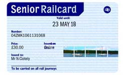 The Senior Railcard Is For Anyone Aged 60 Or Over And Allows 1 3 Discount On Anytime Off Peak Advance Rail Tickets In Both Standard Class First