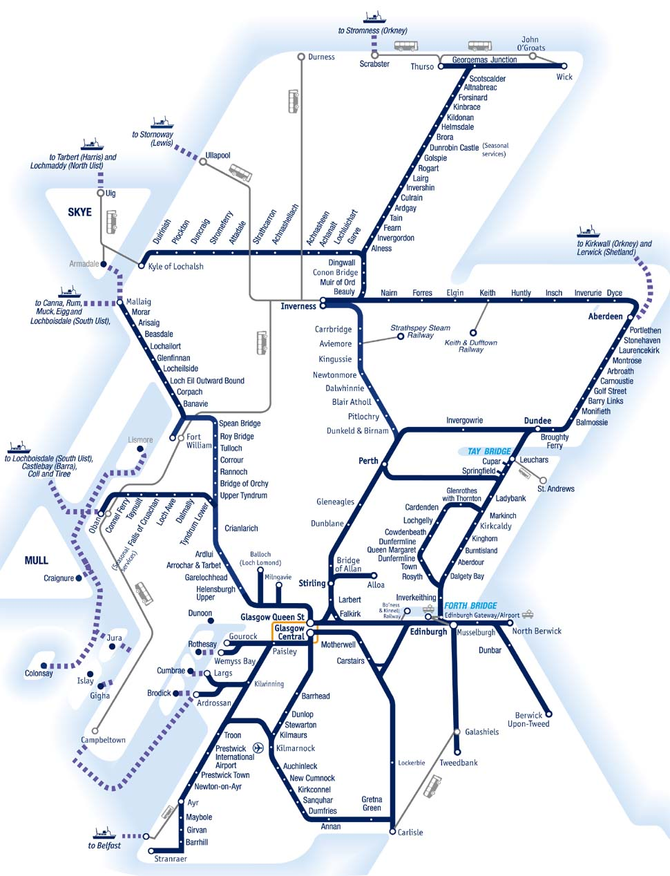 Train Routes In Scotland Map.Gb Rail Rover Guide Spirit Of Scotland Travelpass